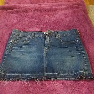 Mini Jean skirt by Glo.